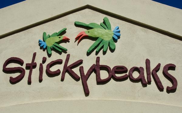 Stickybeaks Cafe signage